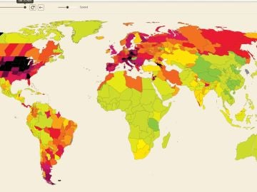 El mapa interactivo de la evolución de incidencia acumulada de coronavirus en el mundo