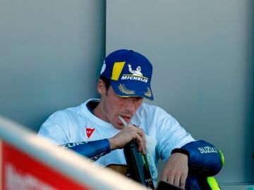 Joan Mir, emocionado tras ganar el mundial de MotoGP