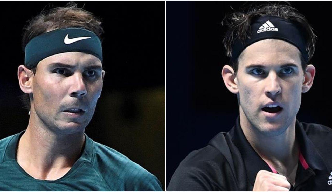 Rafa Nadal - Dominic Thiem: Horario y dónde ver el partido de tenis de la ATP Finals 2020 en directo