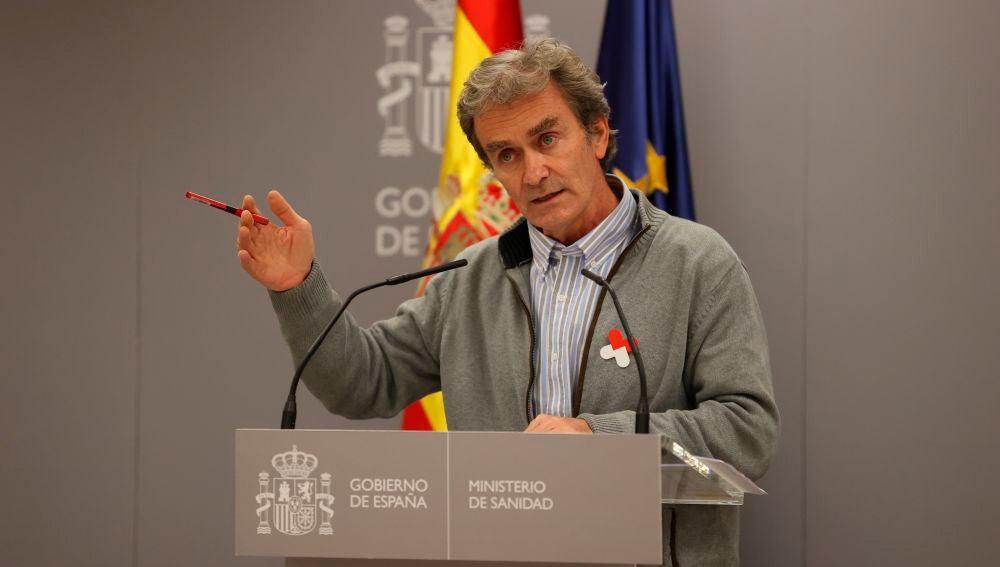 Rueda de prensa del director del Centro de Coordinación de Alertas y Emergencias Sanitarias, Fernando Simón
