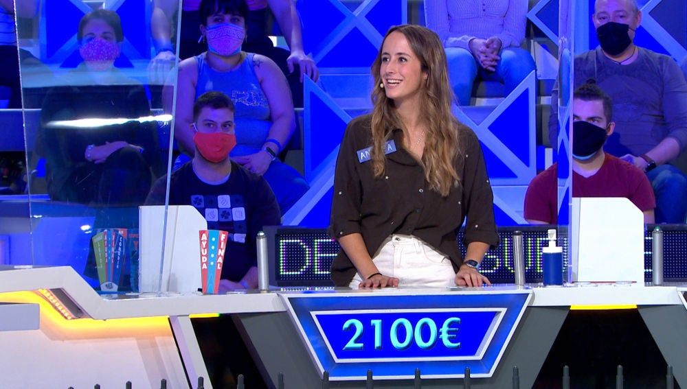 """La gran jugada de Andrea en 'La ruleta de la suerte': """"Tienes un bote en tu marcador"""""""