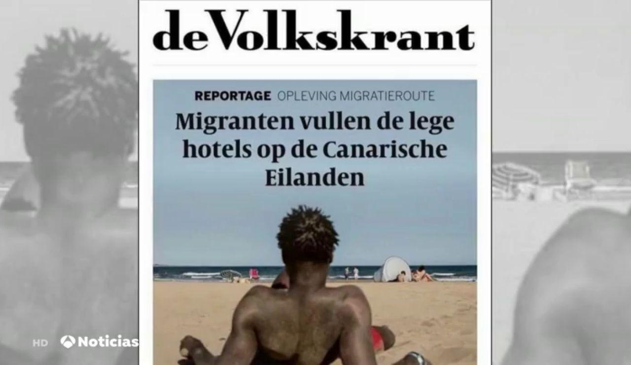 """El titular de un diario holandés que indigna en canarias: """"Los inmigrantes llenan los hoteles vacíos de Canarias"""""""