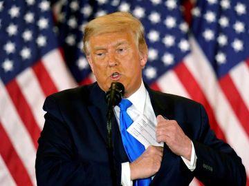 """Trump da por ganador a Biden por primera vez pero después insiste en que no concede la victoria: """"¡Yo no reconozco NADA!"""""""
