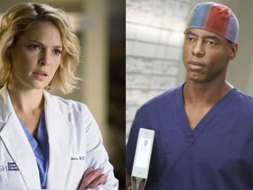 Katherine Heigl y Isaiah Washington en 'Anatomía de Grey'