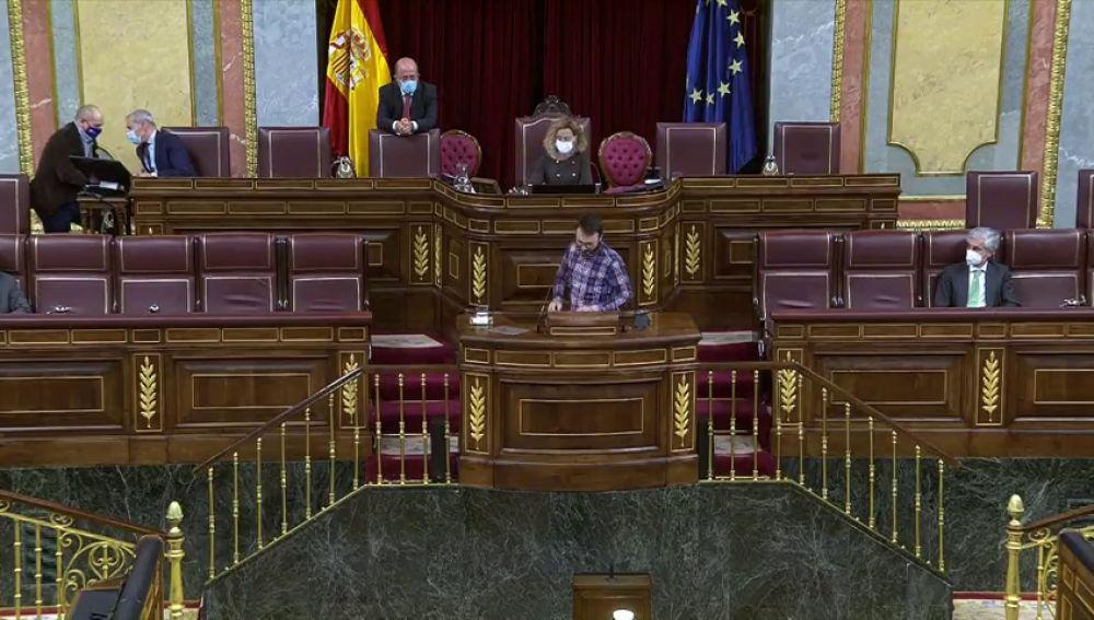 Los portavoces de la CUP y BNG se niegan a utilizar el castellano en el pleno del Congreso para responder a una iniciativa de Vox