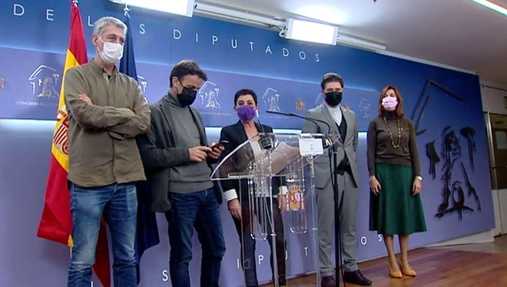 Podemos se une a ERC y Bildu para presionar al PSOE con una enmienda a los presupuestos sobre desahucios