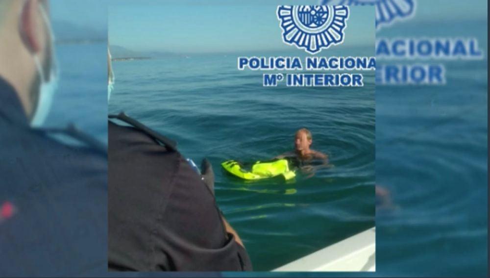 Imagen del presunto agresor sexual detenido en el mar