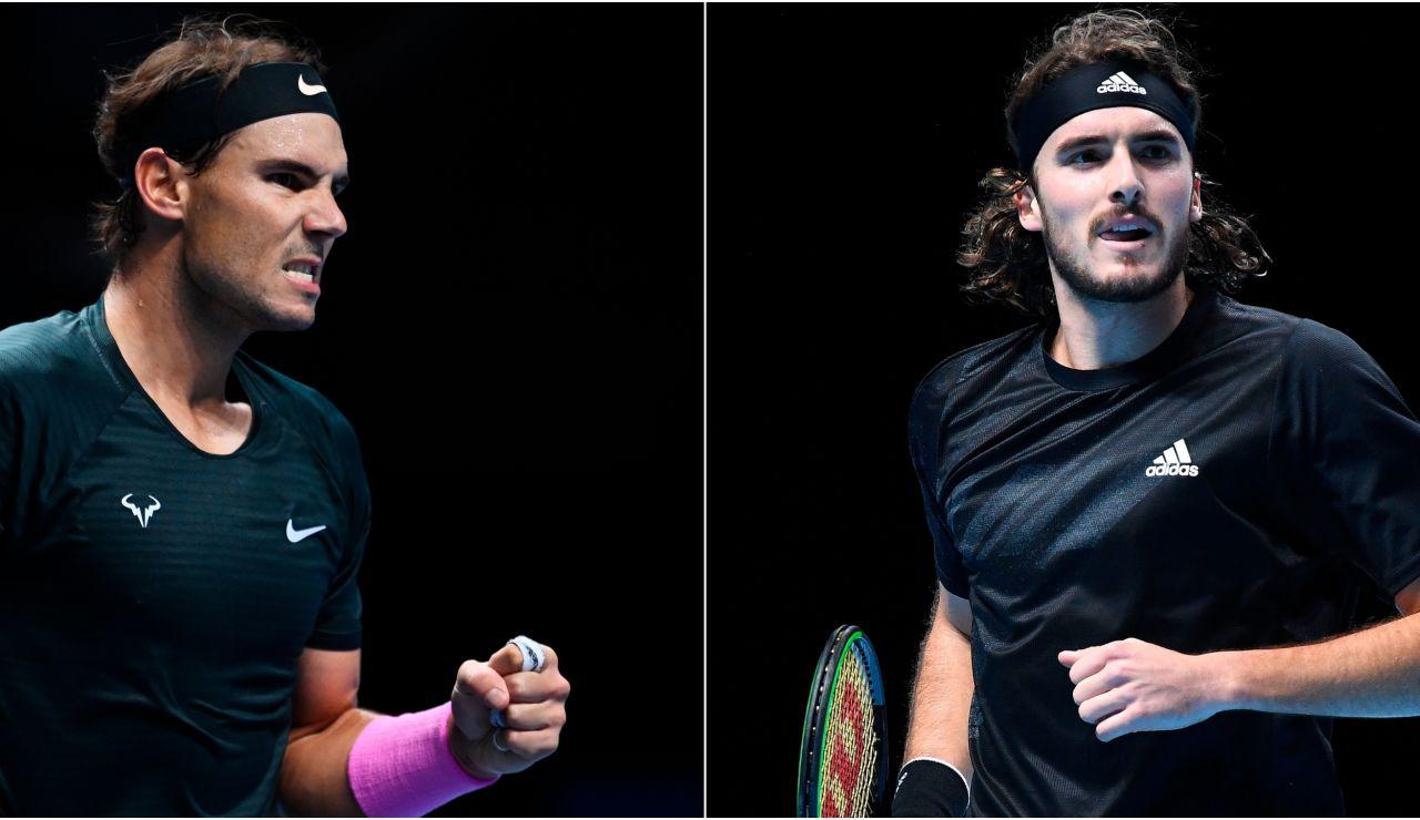 Nadal - Tsitsipas: Horario y dónde ver el partido de tenidos de la ATP Finals en directo
