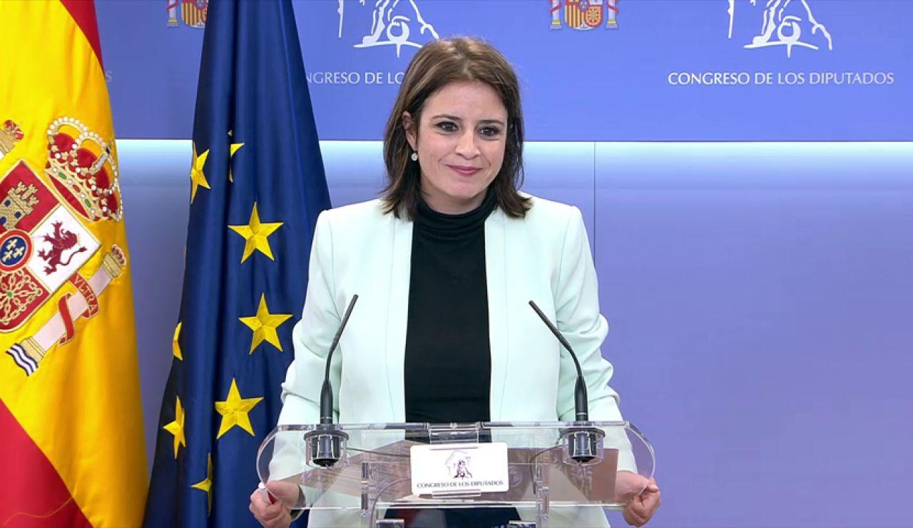 """Adriana Lastra responde a los socialistas que critican los acuerdos con Bildu: """"Ahora nos toca a nosotros dirigir"""""""
