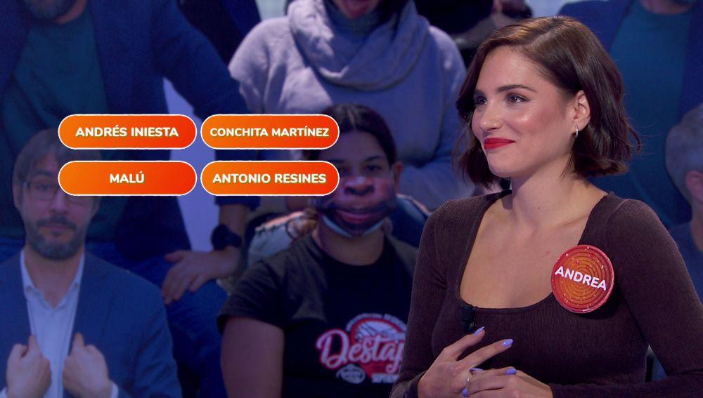 Andrés Iniesta y Victoria Beckham dejan alucinada a Andrea Duro en 'Una de cuatro'
