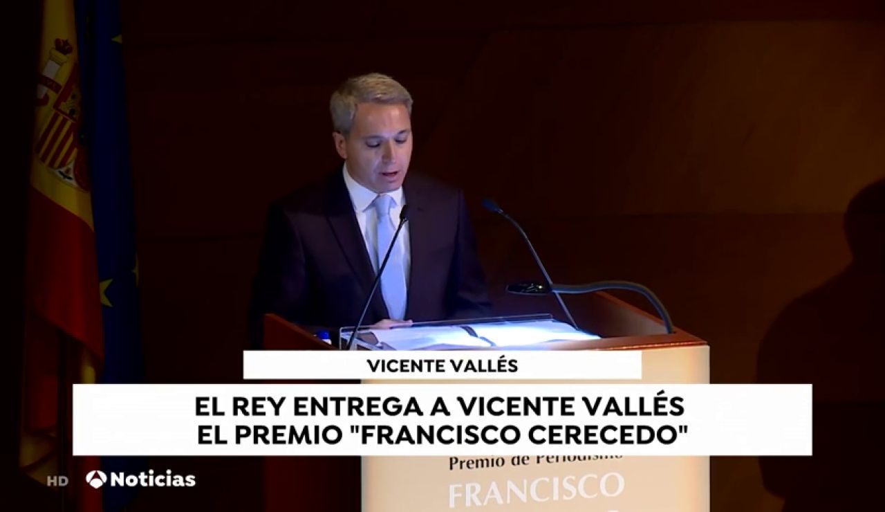 Vicente Vallés recibe el Premio Francisco Cerecedo