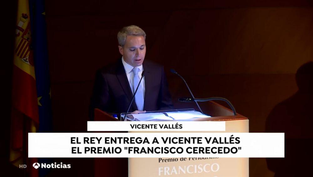 Vicente Vallés recibe el Premio Francisco Cerecedo