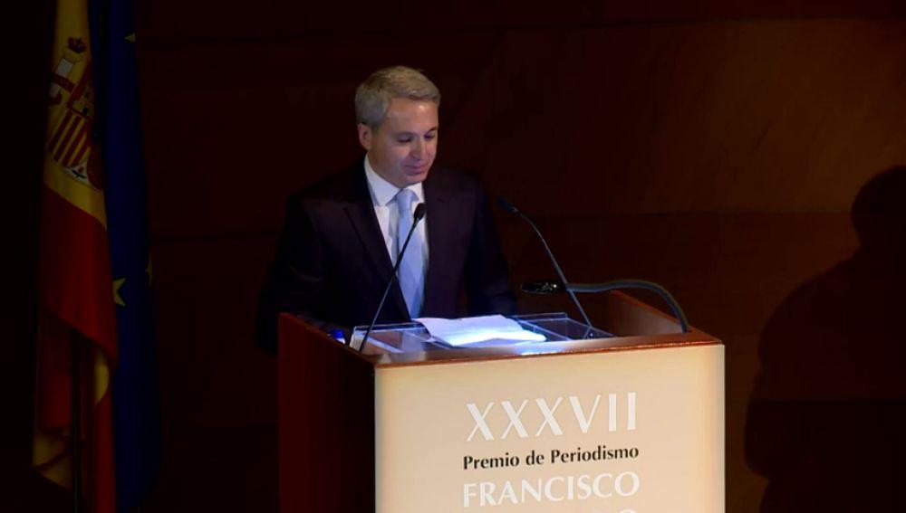 """El discurso de Vicente Vallés tras recibir el premio 'Francisco Cerecedo': """"El periodismo es la antítesis del fanatismo"""""""