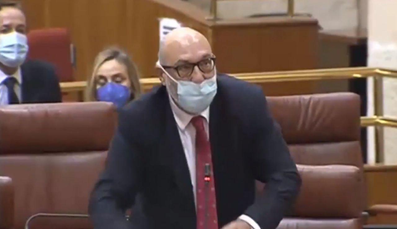 El portavoz de Vox en Andalucía, Alejandro Hernández