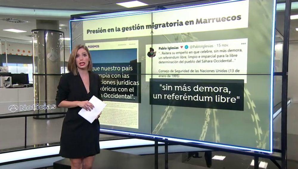 La ministra de Defensa, Margarita Robles, le recuerda a Pablo Iglesias que la política exterior la fija el presidente y la ministra de Exteriores