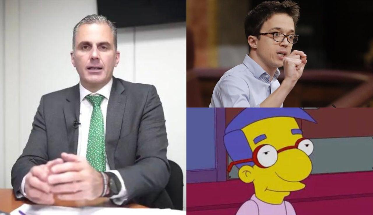 """Rifirrafe entre Íñigo Errejón y Ortega Smith que se llaman """"cobarde"""" o """"Milhouse"""" de los Simpson en Twitter"""