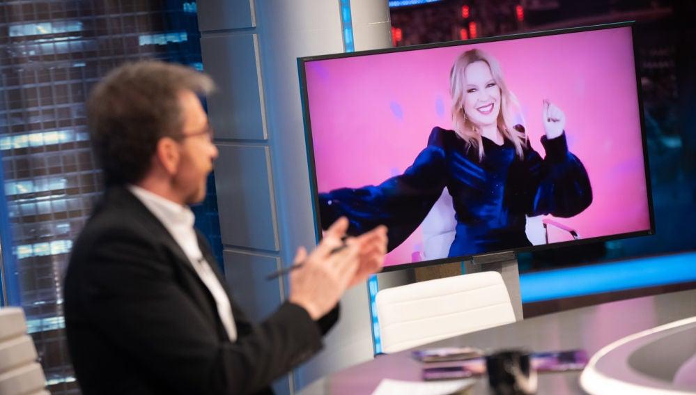 'El Hormiguero 3.0' crea un videoclip en directo con el nuevo éxito de Kylie Minogue