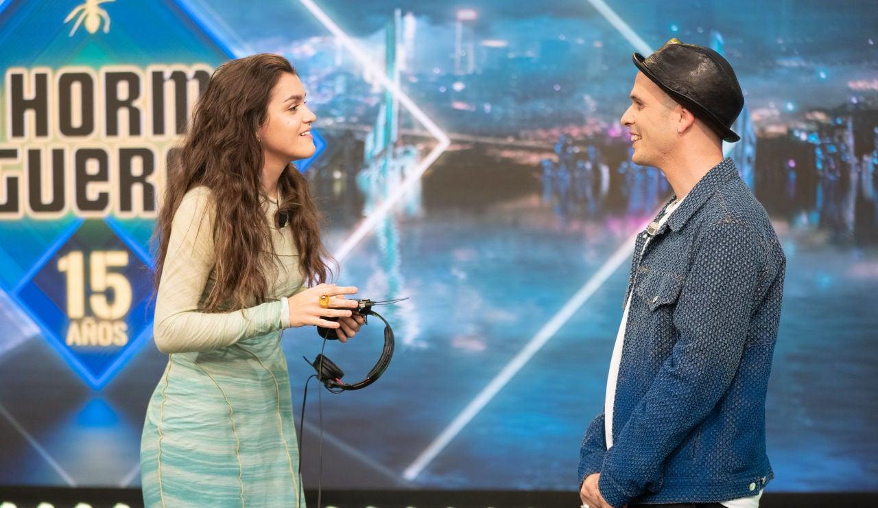 Amaia Romero demuestra en 'El Hormiguero 3.0' su capacidad para imitar a Iker Jiménez