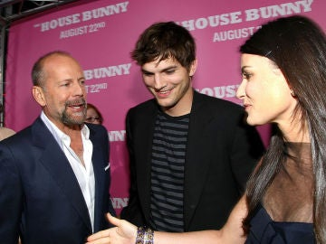 Bruce Willis, Ashton Kutcher y Demi Moore