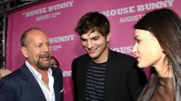 Bruce Willis, Ashton Kutcher y Demi Moore