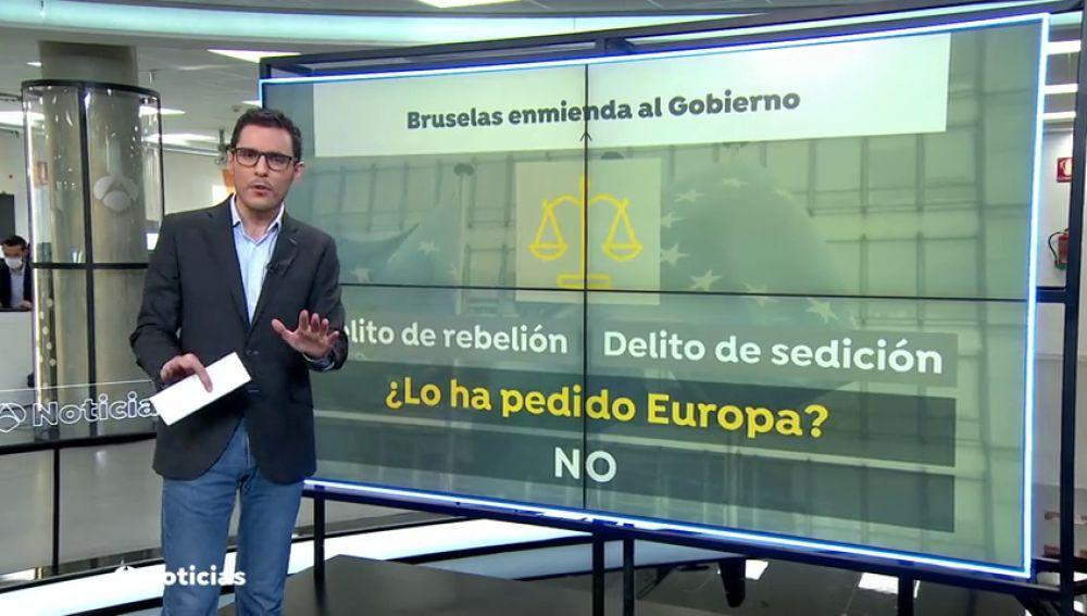 Bruselas no ha dado instrucciones a España para que reforme los delitos de sedición y rebelión
