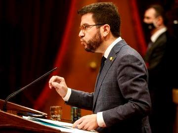 El vicepresidente de la Generalitat en funciones de presidente, Pere Aragonès