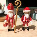 San  Nicolás y Papá Noel