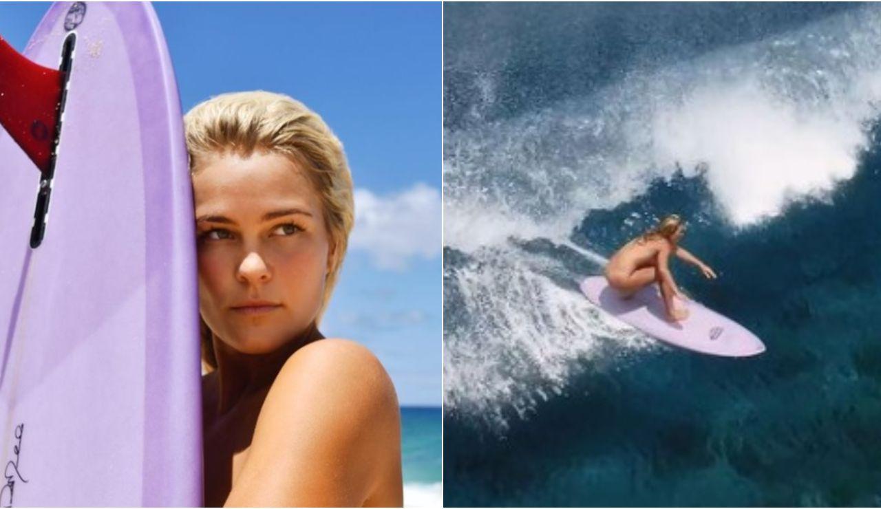 La surfista australiana Felicity Palmateer