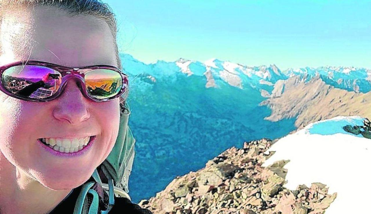 Selfie' de la montañera difundida por la Gendarmería