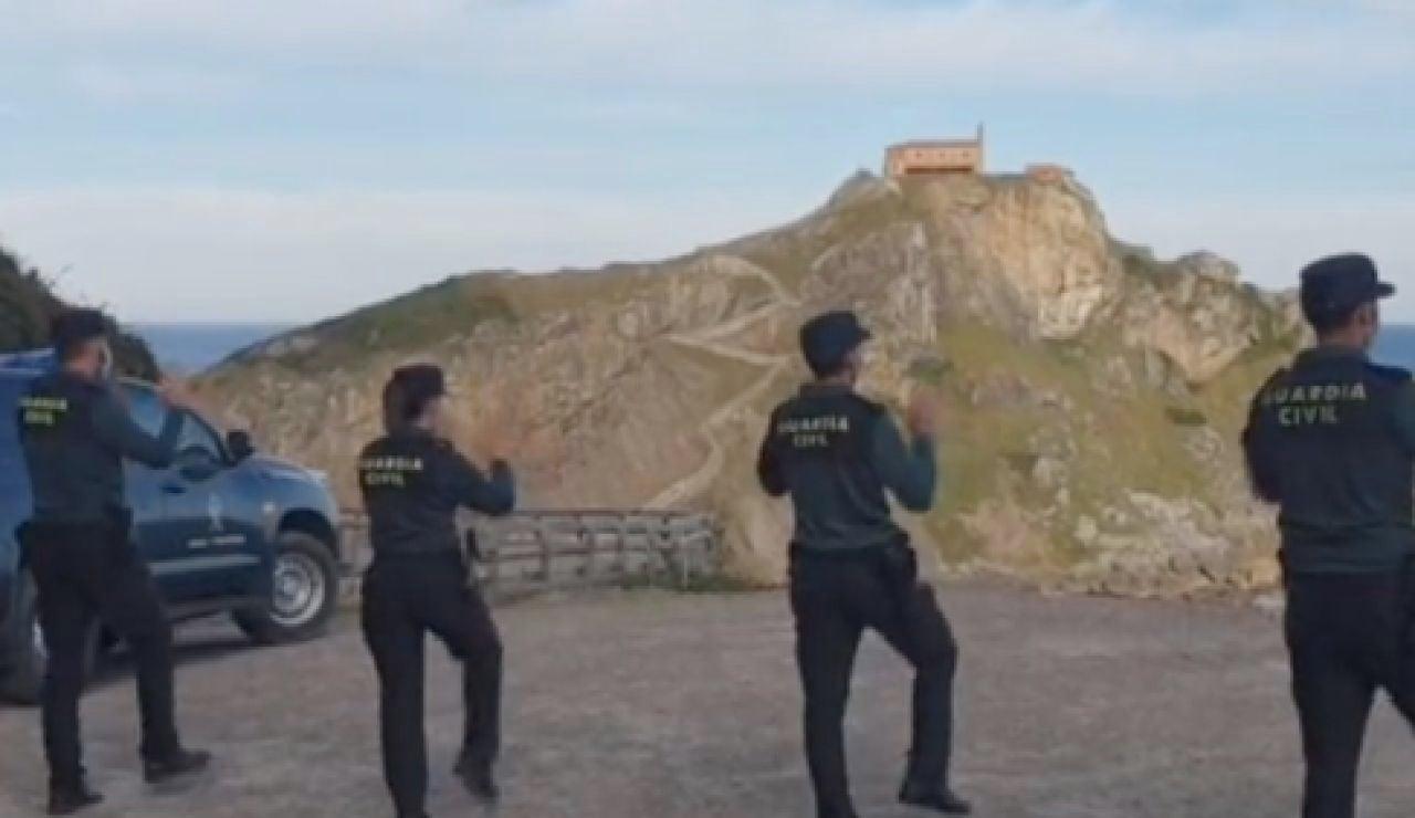 Críticas a un vídeo de la Guardia Civil de País Vasco en TikTok