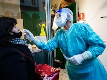 Pruebas de coronavirus en Italia