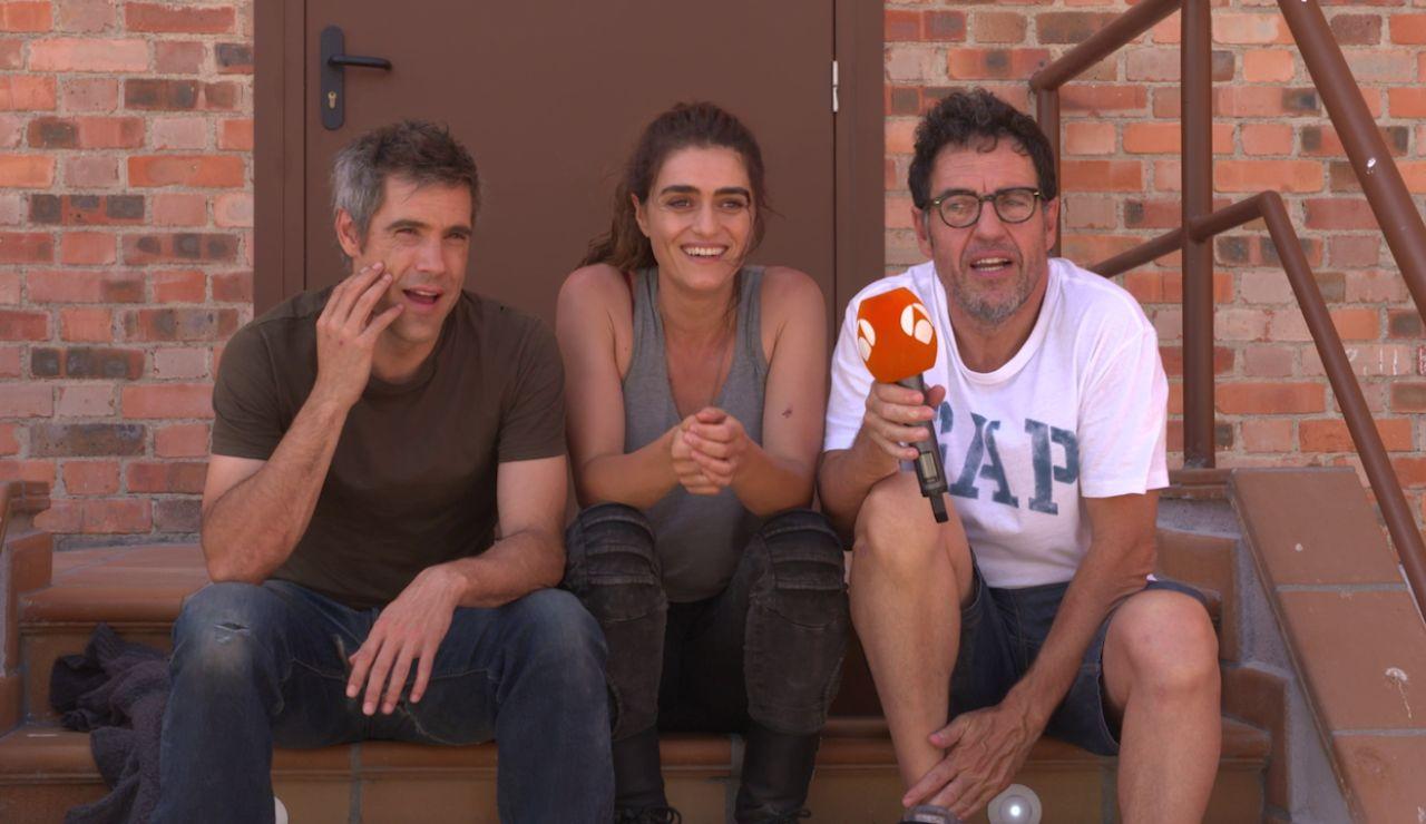 """Olivia Molina, Unax Ugalde y Daniel Écija: """"Sumergirse en 'La Valla' ha sido una enormidad"""""""