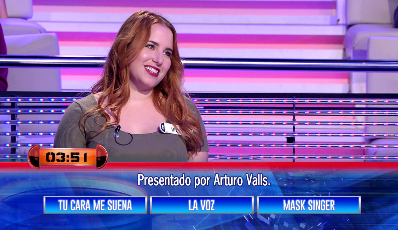 Momento de máxima incertidumbre en '¡Ahora caigo!': ¿Acierta Vicky qué otro programa presenta Arturo Valls?