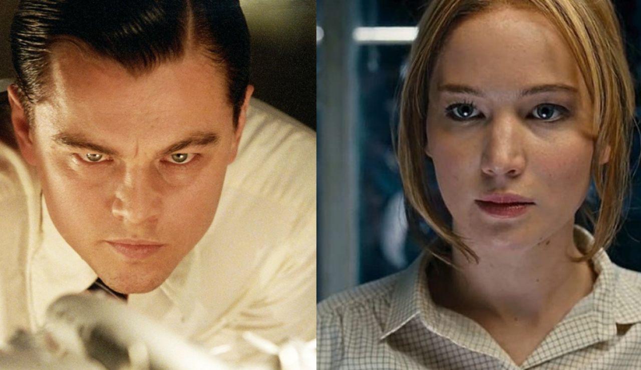 Leonardo DiCaprio y Jennifer Lawrence