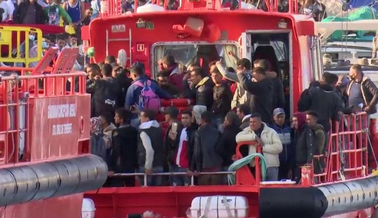 Récord histórico de llegada de inmigrantes a Canarias en noviembre