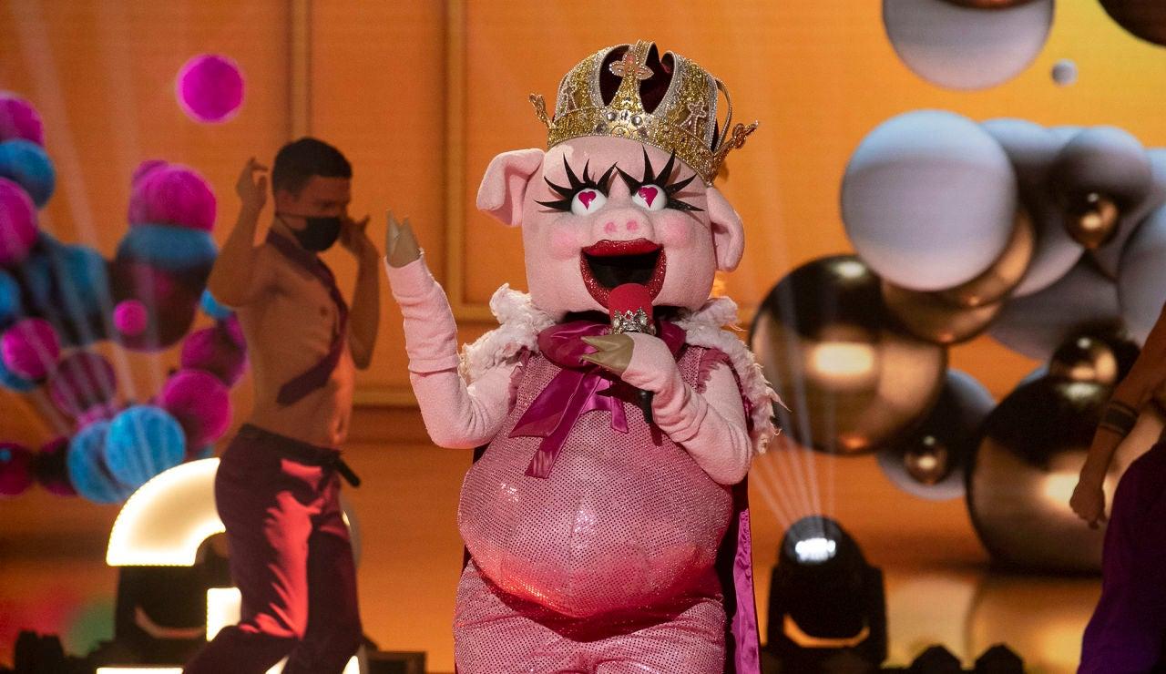 La Cerdita derrocha poderío con '1, 2, 3' de Sofía Reyes y Jason Derulo en 'Mask Singer'