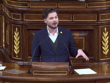"""Gabriel Rufián abre una """"nueva era al deber pactar el Gobierno obligadamente con el independentismo catalán y vasco"""""""