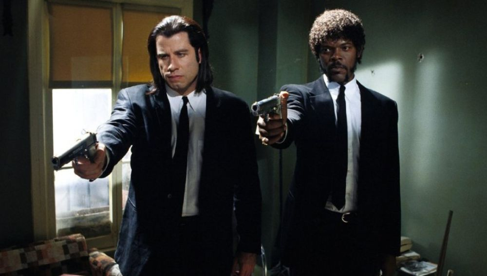 John Travolta y Samuel L. Jackson en 'Pulp Fiction' en 1994