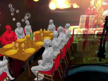 El modelo matemático que muestra el riesgo de contagio entre 10 personas en las cenas de Navidad