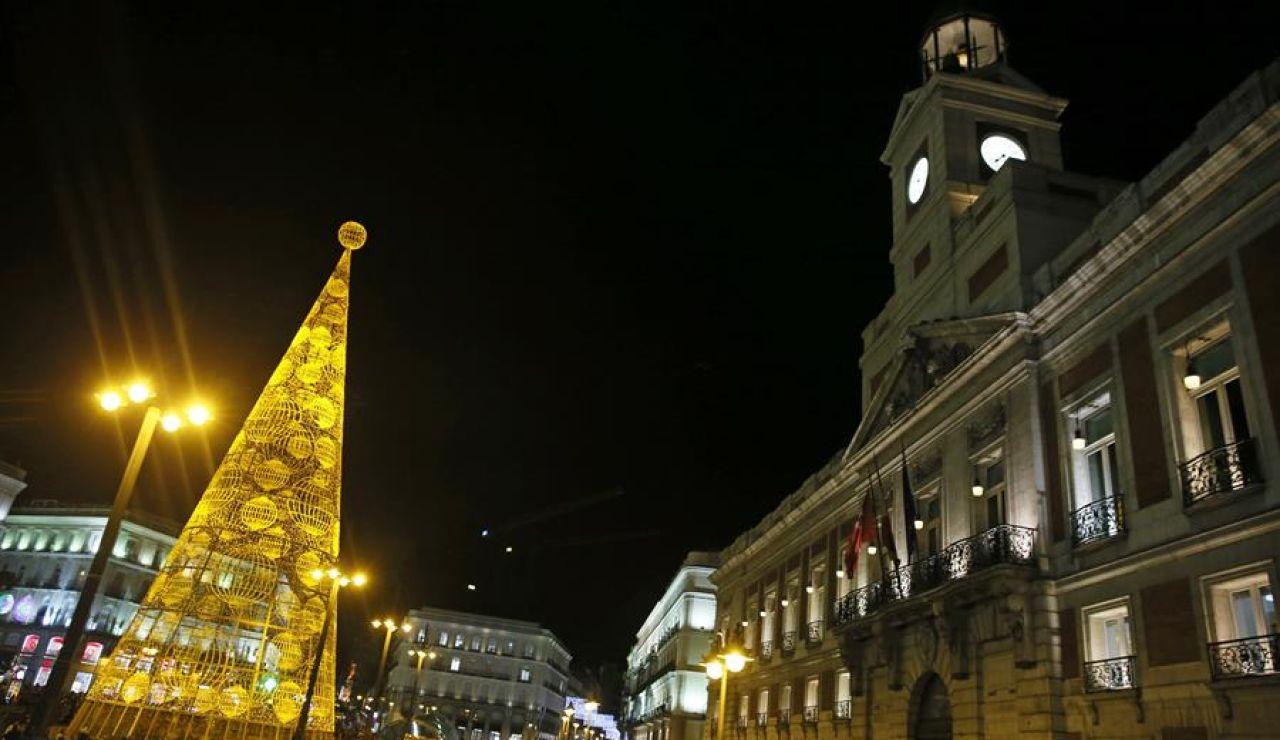 Puerta del Sol en Navidad (archivo)
