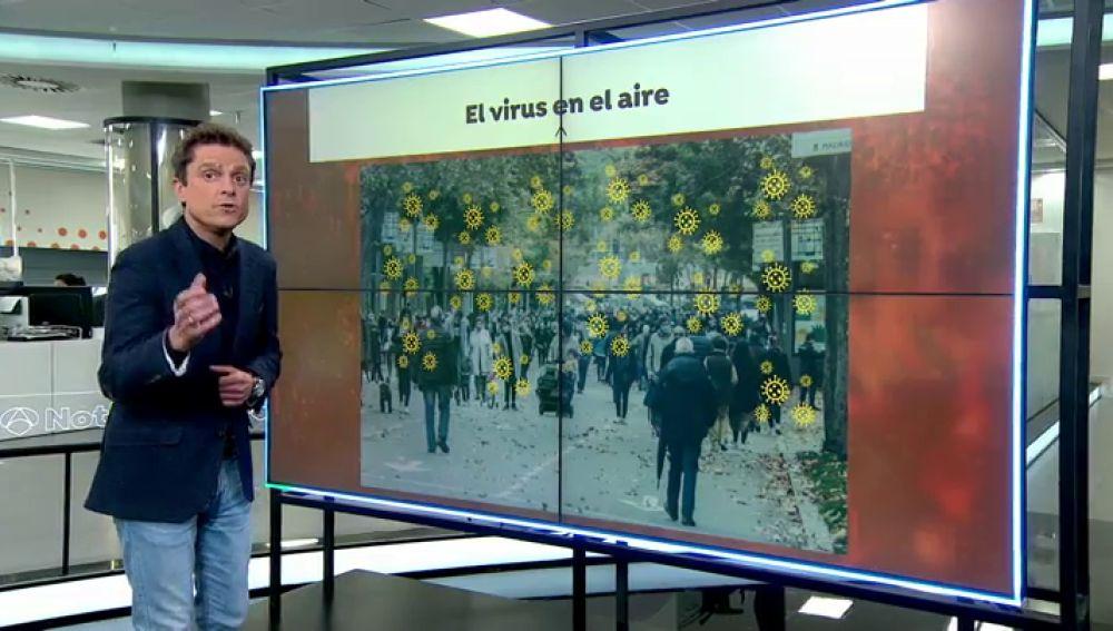 Científicos valencianos desarrollan un método para detectar aerosoles con Covid-19