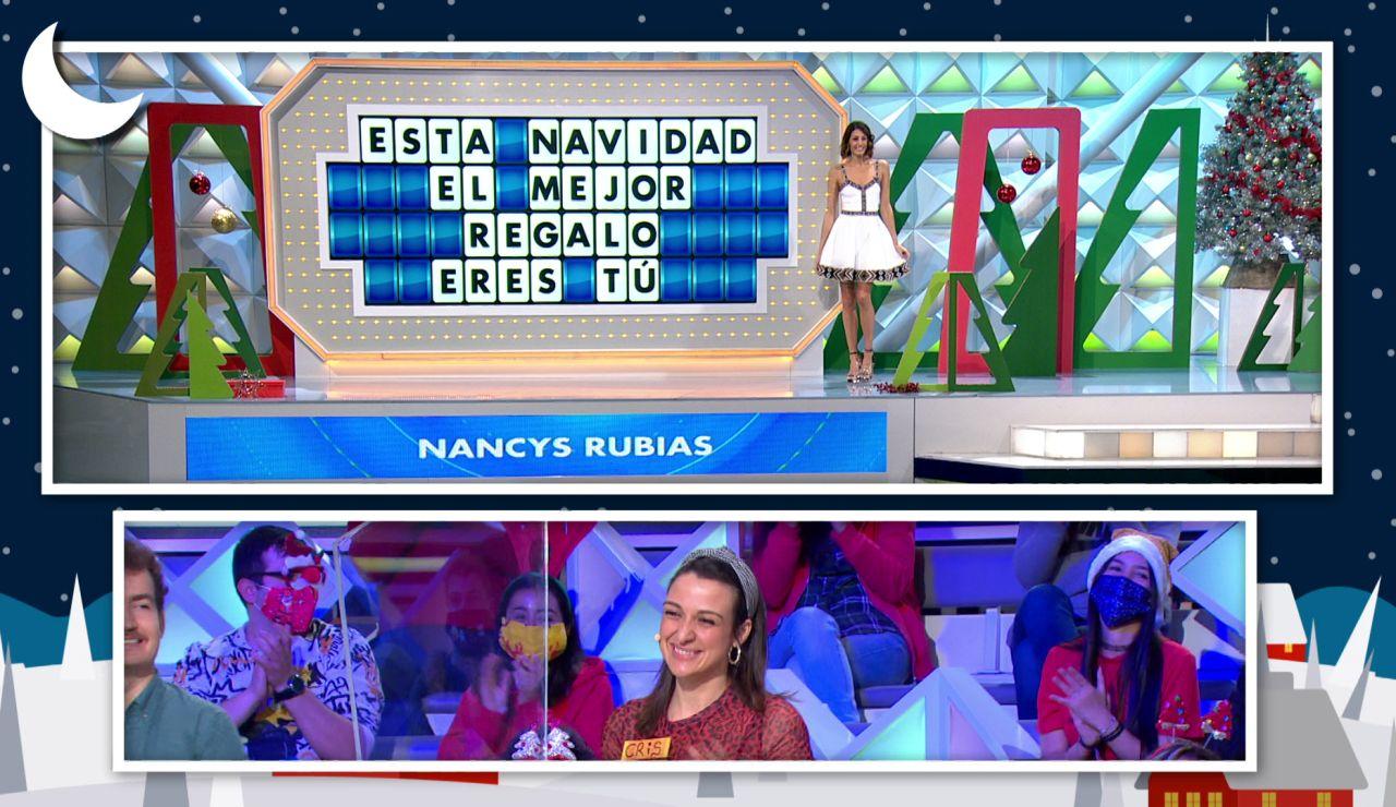 Joaquín da la bienvenida a la Navidad con una famosísima canción en 'La ruleta de la suerte'