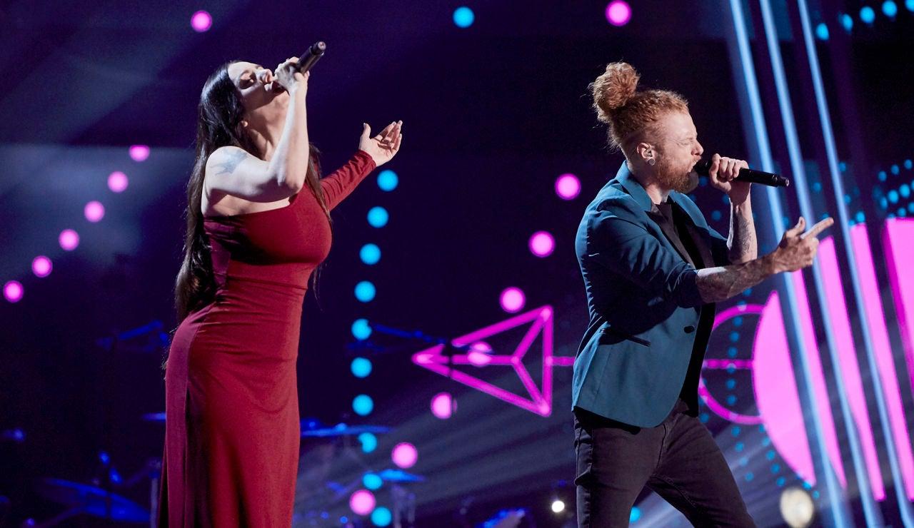 Mala Rodríguez y Curricé cantan 'Superbalada' en La Final de 'La Voz'