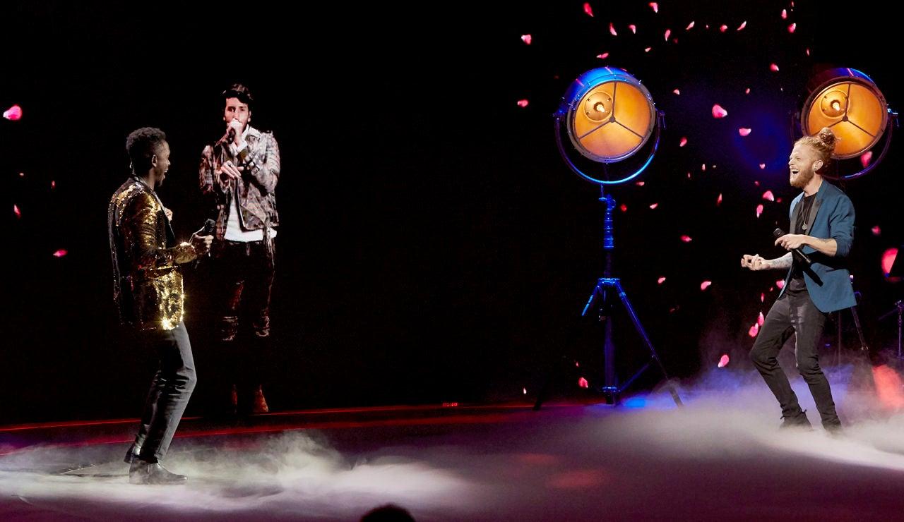 Sebastián Yatra, Kelly y Curricé cantan 'A dónde van' en La Final de 'La Voz'