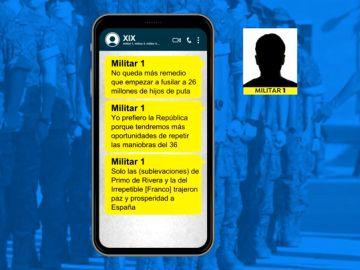 Estas son las frases del chat de WhatsApp de militares retirados sobre fusilamientos y un golpe de estado