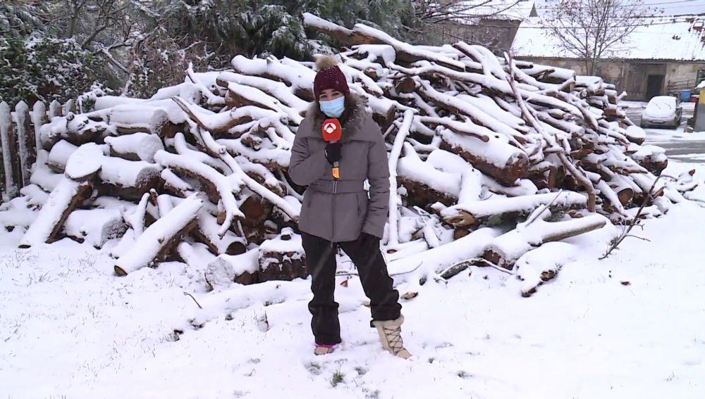 Primera nevada del año en Valsaín, Segovia