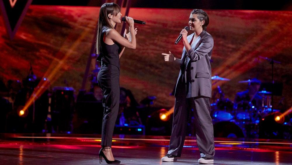 Aitana y Paula Espinosa cantan 'Corazón sin vida' en La Final de 'La Voz'