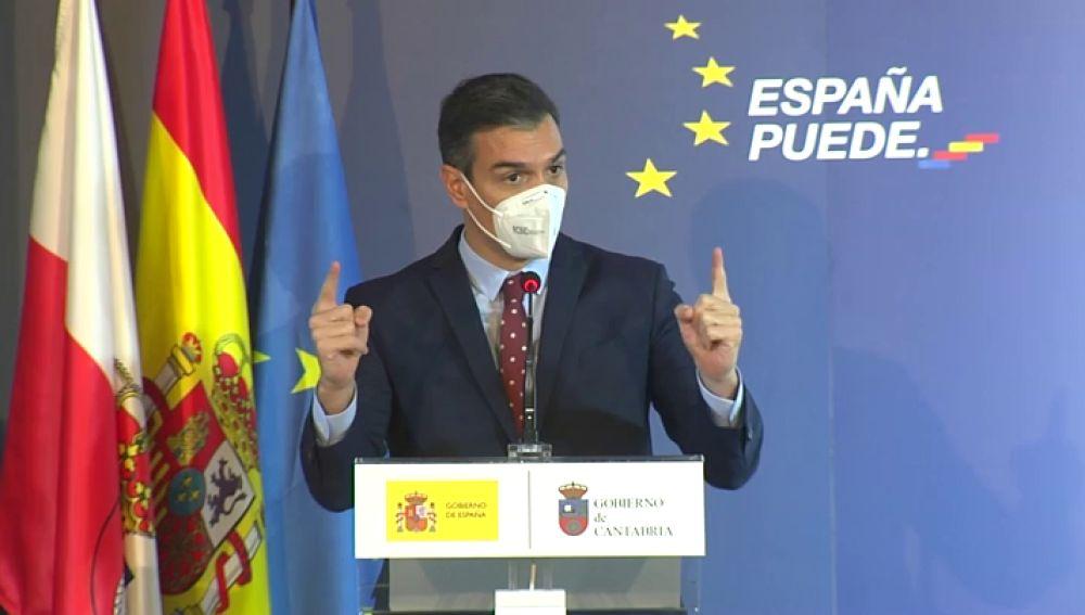 Pedro Sánchez espera que en junio haya entre 15 y 20 millones de personas vacunadas en España