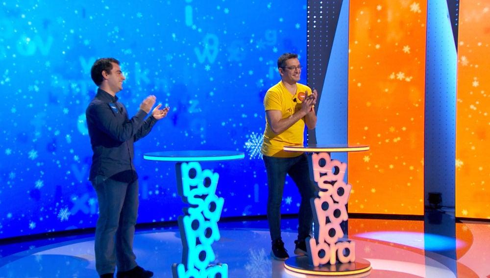 """¡A dos de 964.000 euros! Pablo y Luis luchan en la cumbre en el primer """"roscón"""" de 'Pasapalabra'"""