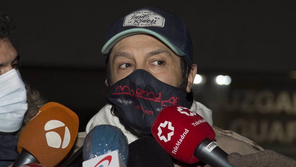 Rafael Amargo a su salida de los juzgados